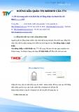 Hướng dẫn quản trị website của TTV