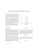 ENCYCLOPEDIA OF ENVIRONMENTAL SCIENCE AND ENGINEERING - STATISTICAL METHODS FOR ENVIRONMENTAL SCIENCE