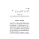 Introduction to ENVIRONMENTAL TOXICOLOGY Impacts of Chemicals Upon Ecological Systems - CHAPTER 10