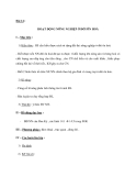 Bài 14 : HOẠT ĐỘNG NÔNG NGHIỆP Ở ĐỚI ÔN HOÀ