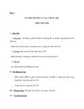Bài 2 : SỰ PHÂN BỐ DÂN CƯ CÁC CHỦNG TỘC TRÊN THẾ GIỚI