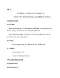 Tiết 14 TÁC ĐỘNG CỦA NỘI LỰC VÀ NGOẠI LỰC TRONG VIỆC HÌNH THÀNH ĐỊA HÌNH BỀ MẶT TRÁI ĐẤT