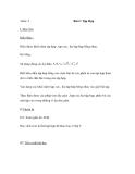 Bài 2: Tập Hợp