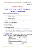 Chức năng nhập và xuất file trong chương trình SAP2000 V12
