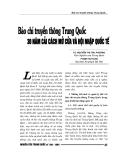 """Báo cáo nghiên cứu khoa học """" Báo chí truyền thông Trung Quốc 30 năm cải cách mở cửa và hội nhập quốc tế """""""