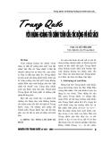 """Báo cáo nghiên cứu khoa học """" Trung Quốc với khủng hoảng tài chính toàn cầU: tác động và đối sách  """""""