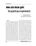 """Báo cáo nghiên cứu khoa học """" Nông dân Trung Quốc - Thực trạng bất đối xứng so với người dân thành thị """""""