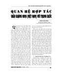 """Báo cáo nghiên cứu khoa học """" Quan hệ hợp tác giữa Quảng Ninh với Trung Quồc """""""