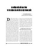 """Báo cáo nghiên cứu khoa học """" Xu hướng biến đổi giai tầng và tác động của nó đến xã hội Trung quốc """""""