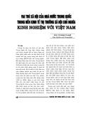 """Báo cáo nghiên cứu khoa học """" Vai trò của nhà nước trugn quốc trong nền kinh tế thị trường xã hội chủ nghĩa kinh nghiệm với Việt Nam  """""""