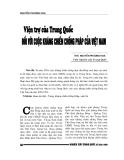 """Báo cáo nghiên cứu khoa học """" Viện trợ của Trung Quốc đối với cuộc kháng chiến chống pháp ở Việt Nam """""""