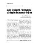 """Báo cáo nghiên cứu khoa học """" Quan hệ kinh tế thương mại  giữa tỉnh Quảng Đông ( Trung Quốc ) với Việt Nam """""""
