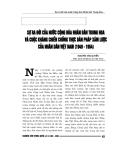 """Báo cáo nghiên cứu khoa học """" Sự ra đời của n-ớc Cộng hòa Nhân dân Trung Hoa và cuộc kháng chiến chống thực dân Pháp xâm lược của nhân dân Việt Nam 1949 - 0954 """""""
