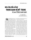 """Báo cáo nghiên cứu khoa học """" Một số đặc điểm nổi bật trong quan hệ Mỹ - Trung từ sau chiến tranh lạnh"""""""