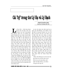 """Báo cáo nghiên cứu khoa học """" Cái """" kỳ """" trong thơ Lý Hạ và Lý Bạch """""""