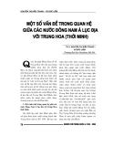"""Báo cáo nghiên cứu khoa học """" Một số vấn đề trong quan hệ giữa các nước Đông Nam á lục địa với Trung Hoa ( thời Minh ) """""""