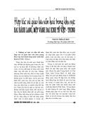 """Báo cáo nghiên cứu khoa học """" Hợp tác và giao l-u văn hoá trong khu vực hai hành lang một vành đai kinh tế Việt - Trung """""""