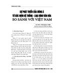 """Báo cáo nghiên cứu khoa học """" Sự phát triển của Đông Á từ góc nhìn hệ thống - loại hình văn hóa so sánh với Việt Nam """""""