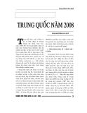 """Báo cáo nghiên cứu khoa học """" Trung Quốc năm 2008 """""""