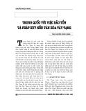 """Báo cáo nghiên cứu khoa học """" Trung Quốc với việc bảo tồn và phát huy nền  văn hóa Tây Tạng """""""