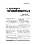 """Báo cáo nghiên cứu khoa học """" Các ngả đường của phong trào Đông Du Trung Quốc thời cận đại """""""
