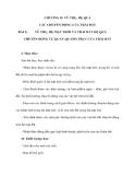 CHƯƠNG II: VŨ TRỤ, HỆ QUẢ CÁC CHUYỂN ĐỘNG CỦA TRÁI ĐẤT