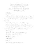 CHƯƠNG III: CẤU TRÚC CỦA TRÁI ĐẤT CÁC QUYỂN CỦA LỚP VỎ ĐỊA LÝ