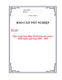 Báo cáo tốt nghiệp: Thực trạng hoạt động marketing của công ty TNHH Minh Quân giai đoạn 2002 - 2005