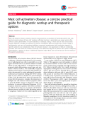 """Báo cáo y học: """"Mast cell activation disease: a concise practical guide for diagnostic workup and therapeutic options"""""""