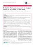 """Báo cáo y học: """"Evaluation of lymph node numbers for adequate staging of Stage II and III colon cancer"""""""