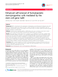 "Báo cáo y học: "" Enhanced self-renewal of hematopoietic stem/progenitor cells mediated by the stem cell gene Sall4"""
