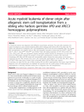 """Báo cáo y học: """"Acute myeloid leukemia of donor origin after allogeneic stem cell transplantation from a sibling who harbors germline XPD and XRCC3 homozygous polymorphisms"""""""