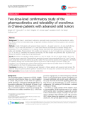 "Báo cáo y học: ""Two-dose-level confirmatory study of the pharmacokinetics and tolerability of everolimus in Chinese patients with advanced solid tumors"""