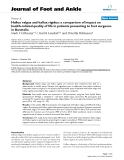 """Báo cáo y học: """"Hallux valgus and hallux rigidus: a comparison of impact on health-related quality of life in patients presenting to foot surgeons in Australia"""""""