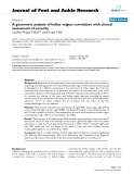 """Báo cáo y học: """"A geometric analysis of hallux valgus: correlation with clinical assessment of severity"""""""