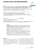"Báo cáo y học: ""Foot and ankle injuries during the Athens 2004 Olympic Games."""