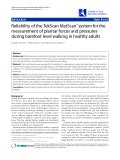 """Báo cáo y học: """"Reliability of the TekScan MatScan® system for the measurement of plantar forces and pressures during barefoot level walking in healthy adults"""""""