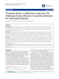 """Báo cáo y học: """"'Choosing shoes': a preliminary study into the challenges facing clinicians in assessing footwear for rheumatoid patients"""""""