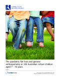 "Báo cáo y học: ""he paediatric flat foot and general anthropometry in 140 Australian school children aged 7 - 10 years"""