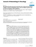 """báo cáo khoa học: """"Phenylhexyl isothiocyanate has dual function as histone deacetylase inhibitor and hypomethylating agent and can inhibit myeloma cell growth by targeting critical pathways"""""""