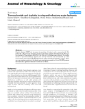 "báo cáo khoa học: ""Temozolomide and cisplatin in relapsed/refractory acute leukemia"""