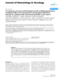 """báo cáo khoa học: """"Co-existence of acute myeloid leukemia with multilineage dysplasia and Epstein-Barr virus-associated T-cell lymphoproliferative disorder in a patient with rheumatoid arthritis: a case report"""""""