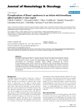 """báo cáo khoa học: """"Complications of Evans' syndrome in an infant with hereditary spherocytosis: a case report"""""""