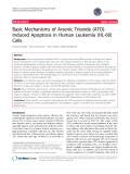 "báo cáo khoa học: ""Basic Mechanisms of Arsenic Trioxide (ATO)Induced Apoptosis in Human Leukemia (HL-60) Cells"""