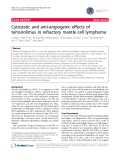 """báo cáo khoa học: """"Cytostatic and anti-angiogenic effects of temsirolimus in refractory mantle cell lymphoma"""""""
