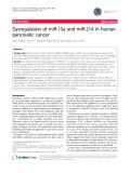 "báo cáo khoa học: ""Dysregulation of miR-15a and miR-214 in human pancreatic cancer"""