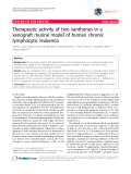 """báo cáo khoa học: """"Therapeutic activity of two xanthones in a xenograft murine model of human chronic lymphocytic leukemia"""""""