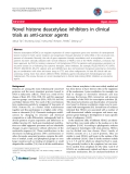 """báo cáo khoa học: """"Novel histone deacetylase inhibitors in clinical trials as anti-cancer agents"""""""