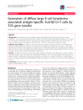 "báo cáo khoa học: ""eneration of diffuse large B cell lymphomaassociated antigen-specific Va6/Vb13+T cells by TCR gene transfer"""