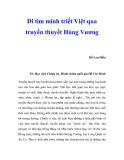 """Báo cáo nghiên cứu khoa học """" Đi tìm minh triết Việt qua truyền thuyết Hùng Vương"""""""